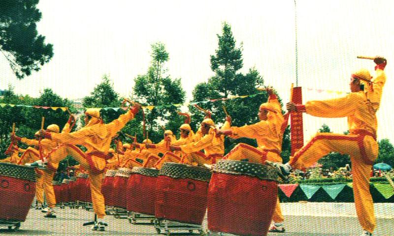 Người Hoa múa trống - vietnamhoc.net
